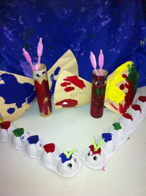 A great example of an easy project undertaken by some little kids!
