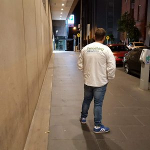 Long Sleeve shirt on the streets of Melbourne
