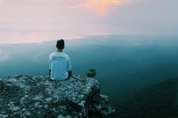 Long Sleeve shirt on a Cambodian cliff