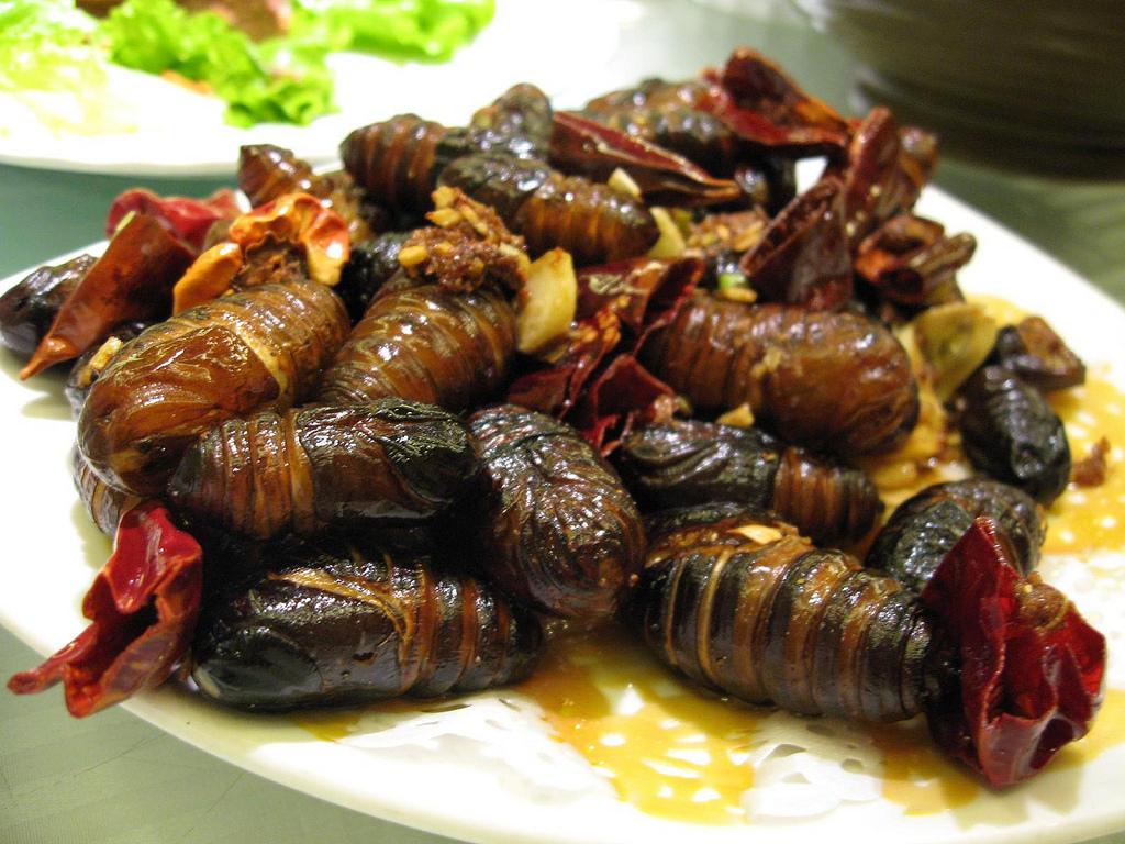 Fried Silkworm Pupae